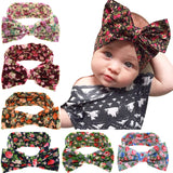 New Arrive Cute Baby Big Bow Knot Hair Band Elasticity Cotton Headwear Baby Girls Hair Accessories W221
