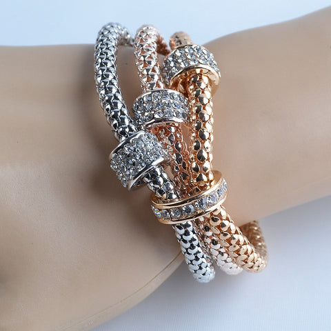 3pcs/set Multilayer Bracelets starfish love Charm Bracelets for women