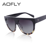 Fashion Sunglasses Women Flat Top Style Brand Design Vintage Sun glasses Female Rivet Shades Big Frame Shades UV400