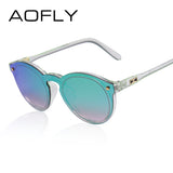 Womens Sunglasses Oval Fashion Female Men Retro Reflective Mirror Sunglasses Clear Candy Color