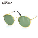 BOUTIQUE Womens Retro Round Alloy Frame Sunglasses Brand Designer Women Round Sunglasses Polarized