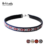 Artilady leather boho choker necklace fashion multicolor Bohemia womens jewelry
