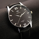 Quartz Watch Men Top Luxury Wristwatch, Roman Numeral Dials