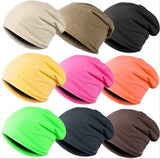New Unisex Beanie Stacking Knitted Hat Slouch For Women Men Hip Hop Casual Autumn Winter Cap 16 Colors Solid