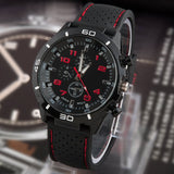 Quartz Business Men's Watches, Men's Military Wristwatch Corium Leather Strap Sports Watches