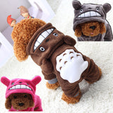 Soft Fleece Dog Clothes Warm Pet Costume Winter Dogs Coat Autumn Hoody Four Legs Jumpsuit Clothing for yorkie small dogs 29