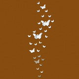30 butterfly home decorations diy silver mirror wall sticker large decal 3d stickers