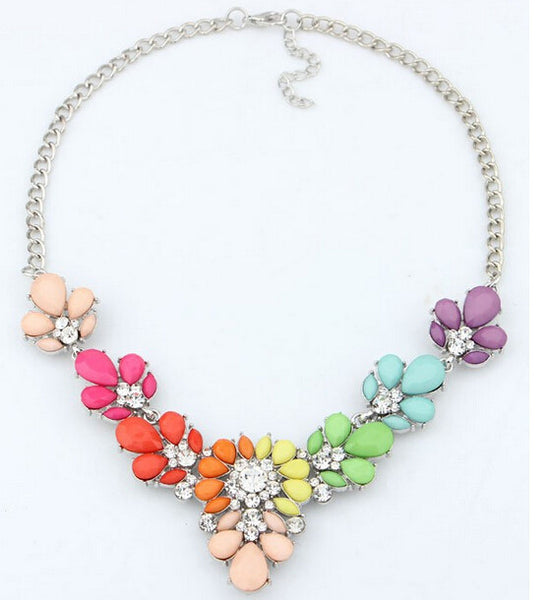 3 Colors Crystal Statement Choker necklaces & pendants For Woman Bib Choker Necklaces Women Jewelry