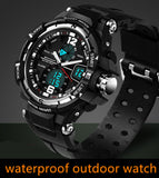 Male Fashion Sport Military Wristwatches Watches Men Luxury Brand 3ATM 30m Dive LED Digital Analog Quartz Watches