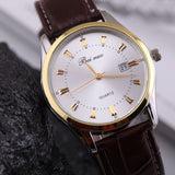 Watches Men Luxury Brand Quartz Watches Men Leather Watch Casual Wristwatch