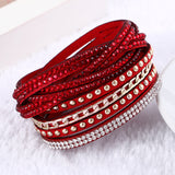 Unisex Multilayer Leather Charm Bracelets Vintage Jewelry For Women