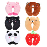 Comfortable Multi-Color Cartoon U Shaped neck travel pillow automatic Neck Support Head Rest Cushion