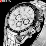 Watches Men Top Luxury Brand Military Sports Wrist watches Men Digital Quartz Men Full Steel Watch