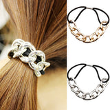 Bluelans Fashion Women's Korean Style Metal Head Chain Headband Head Piece Elastic Hair Band Rope