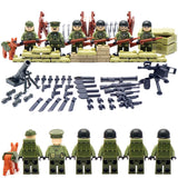 World War II Set US Commandos Brothers Team Marine Corps RPG Battlefield Minifigures Building Blocks Toys Compatible With Lego