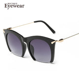 Half rim Sunglasses CAT EYE Sun shades lenses Half frame goggles Women Tinted Sun wear Black Party sunglass Metal