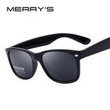 MERRY'S Men Polarized Sunglasses Classic Men Retro Rivet Shades Brand Designer Sun glasses UV400