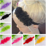 Baby Chiffon 3 Flower Headband Girls Lace Headband Infant Knitting Elastic Hair Band Baby Hair Accessories