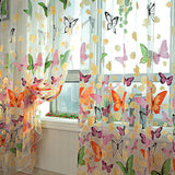 Romantic Bedroom Ready Made Finished Organza Child Window Cortina Butterfly Curtain for Living Room Home Decor