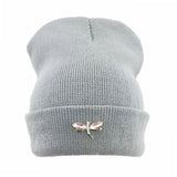 Dragonfly Crystal Accessory Beanie Hat For Women, Hip Hop Cute Hats Winter Caps Female Beanies bonnet