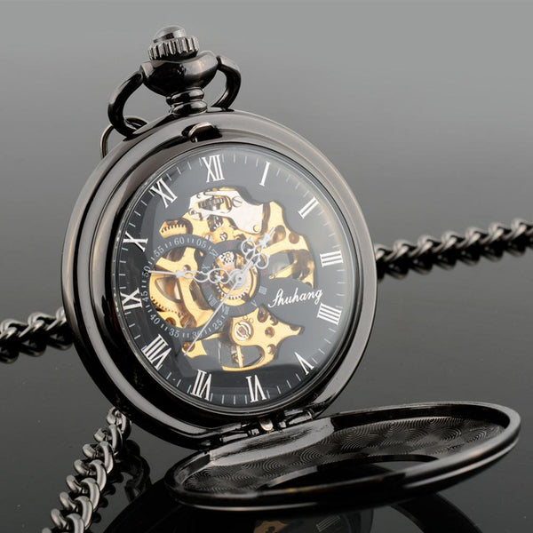 Automatic Retro Auto Men Pocket Watch Pocket Watch Hollow Mechanical Pocket Watches Steampunk Relogio De Bolso Gifts