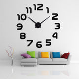 Watch wall clocks 3d diy acrylic mirror Stickers Home Decoration Living Room Quartz Needle