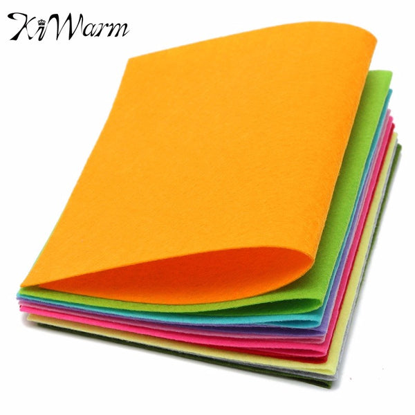 10 Colors/set Non Woven Felt Fabric Sheets Fiber Thick Kids DIY Craft  Assorted Fabric Square Embroidery Scrapbooking Craft