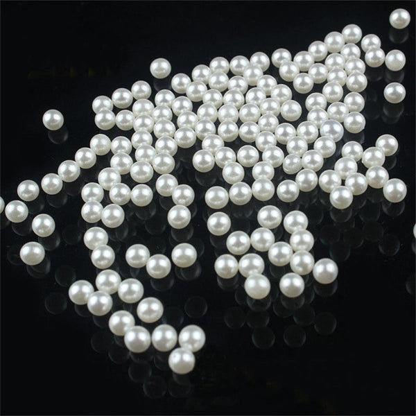 200 piece/lot 5mm DIY White Round Imitation Acrylic Pearl Round Spacer Loose Charms Beads DIY Jewelry Making