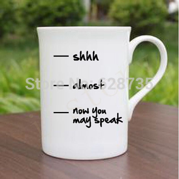 Coffee cup sticker Creative funny personalized decal sticker for Coffee Cup Decoration, Mug Not included