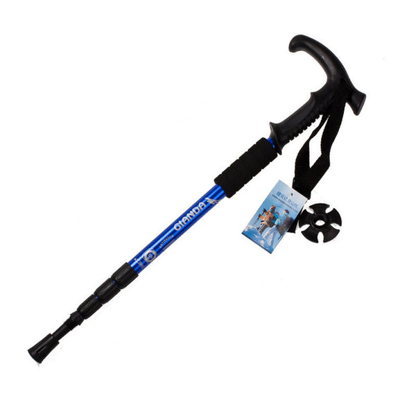 Walking stick Hiking Walking Trekking Trail Poles Ultralight 4-section Adjustable Canes
