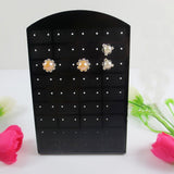 Fashion 72 Holes Earrings Ear Studs Show Black Plastic Jewelry Display Rack Stand Organizer Holder