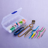 1 SET knitting Accessories DIY Knitting Tools Set Crochet Hook Stitch Weave Accessories Supplied With Case Box