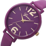 10 Colors Women Bracelet Watch Geneva Famous brand Ladies Faux Leather Analog Quartz Wrist Watch