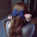Big Solid Cloth Bows Hair Clips Hairpins Hair Accessories for Women Girl Wedding Hair Jewelry