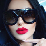 Womens Sunglasses Square Glasses Vintage Big Frame Sun Glasses Acetate Shades Gradient Eyeglasses UV400