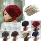 Women Caps Twist Pattern Winter Hat Knitted Sweater Fashion beanie Hats For Women, 6 colors