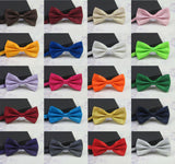 Men's Fashion Tuxedo Classic Mixed Solid Color Butterfly Wedding Party Bowtie, Pre Tied