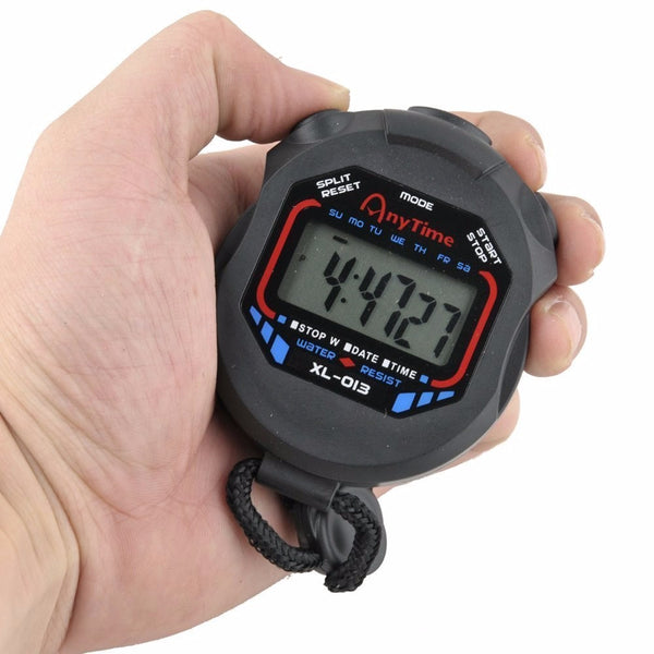 Mance Digital Professional Handheld LCD Chronograph Sports Stopwatch Timer Stop Watch