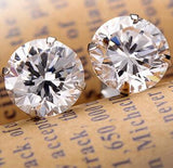 Fashion Noble Jewelry Crystal Rhinestone Silver Plated Stud Earrings Womens Piercing Ear Studs For Weddings Party