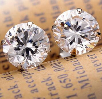 29000acc8 Fashion Noble Jewelry Crystal Rhinestone Silver Plated Stud Earrings Womens  Piercing Ear Studs For Weddings Party