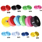 2x Cycling Road Bike Sports Cork Handlebar Tape + 2 Bar plug (8 Pure Colors)  Bicycle Handle Bar