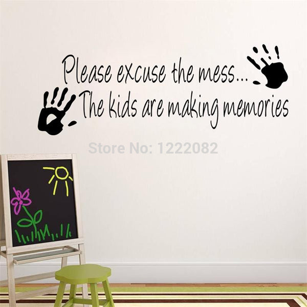 Making memories vinyl wall sticker home decor creative quote wall decals kids room removable cartoon wall art