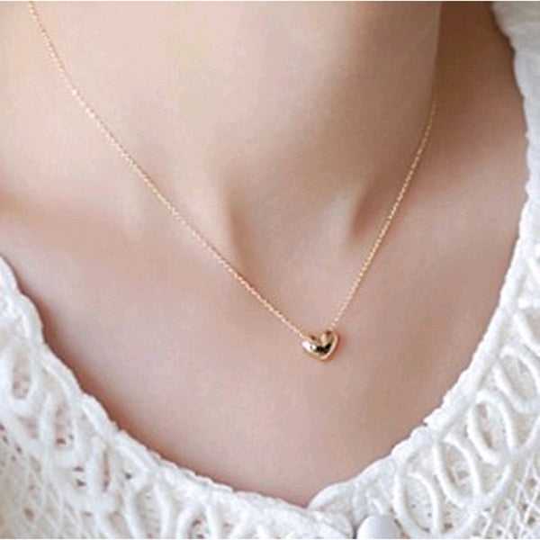 Fashion elegant sweet short design gold love necklace chain for females