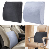 High-Resilience Memory Foam Lumbar Back Support Cushion Relief Pillow for Office Home Car Auto Travel Booster Seat Chair