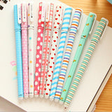 10 Pcs Korean Stationery Watercolor Gel Pens Set Color Kandelia