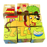 Wooden Animals Fruit Vegetable Transport Kid Children Baby Educational Toy Cartoon Puzzle Baby Kids Puzzle Toy