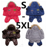 Winter Warm Thick For Large Small Dog Pet Clothes Padded Hoodie Jumpsuit Pants Apparel XS-5XL Hot New Arrival