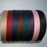 1 pc 30mm Solid Color Satin Covered Resin Hairbands Ribbon Covered Casual Womens Kids Cute Headbands