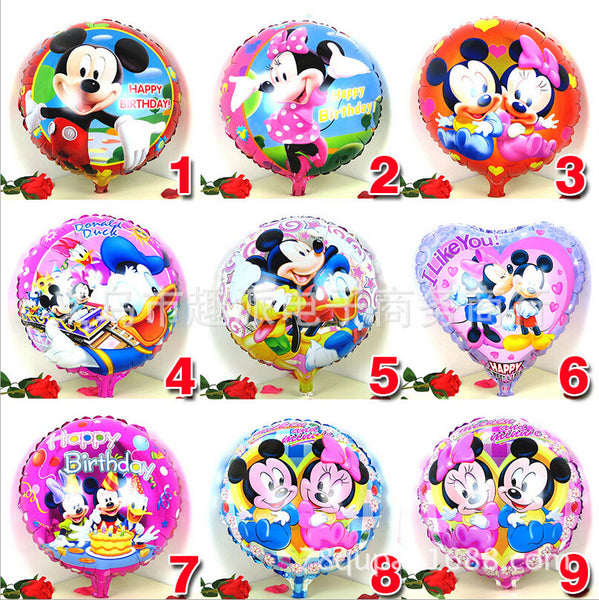 1pcs 18inch mickey minnie mouse print foil helium ballon baby shower birthday party decoration balloon child kids toy