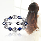 Fashion blue wreath hair clip for women luxuruous girls hair clips accessories trendy vintage bow jewelry